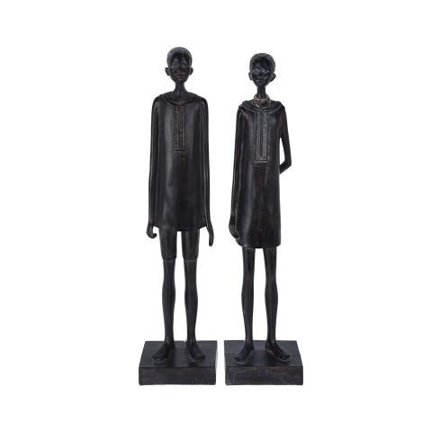 Figure African Man Woman 40 cm