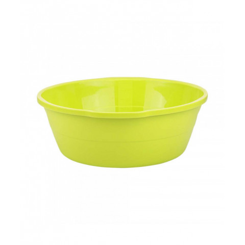 Basin Round Plastic Green 13 L