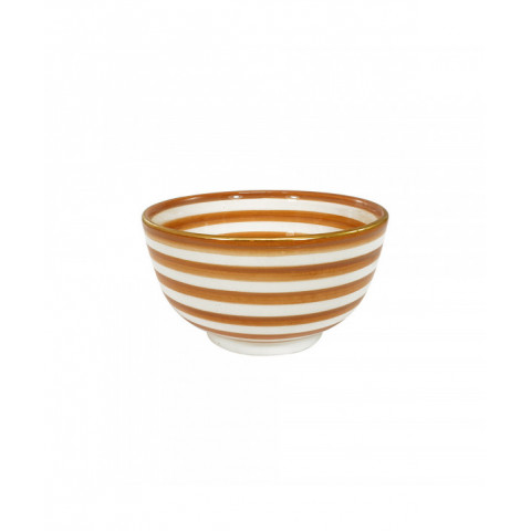 Little Bowl Striped Nude Gold