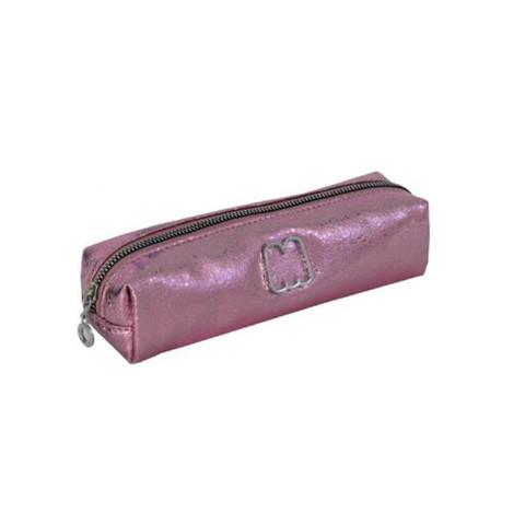 Pencil Case Mettalic Pink