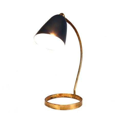Desk Lamp Rusty Brass Blue