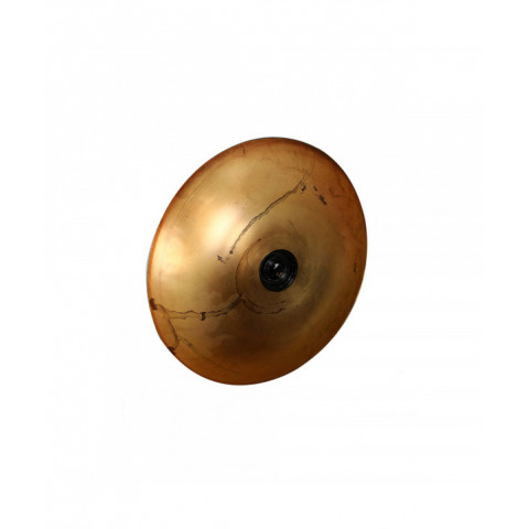 Wall Lamp Round Rustic Gold