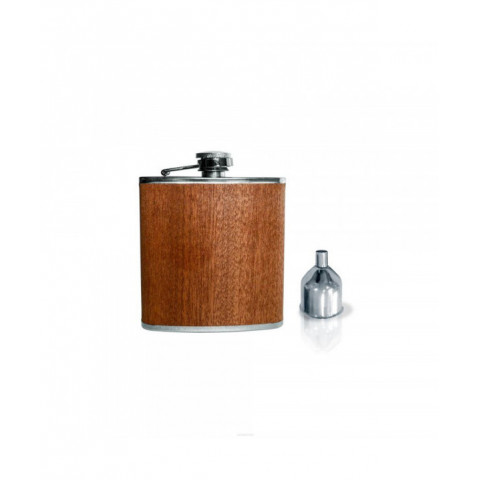 Flask With Funnel Wood Brown