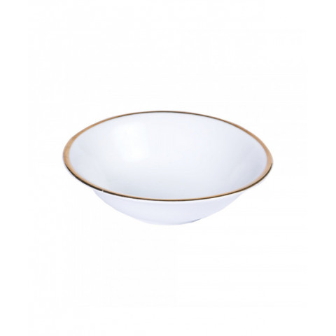 Breakfast Bowl White With Gold