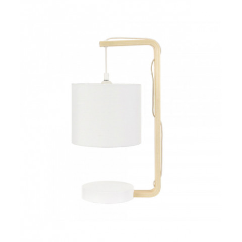 Table Lamp With Curved Wood...