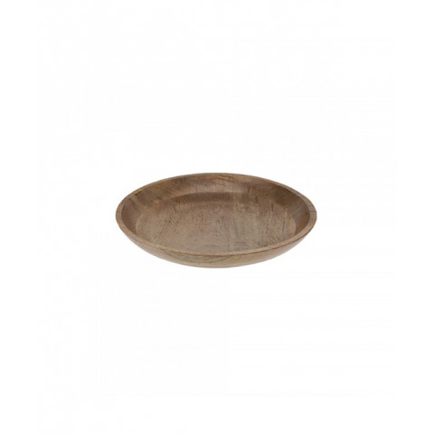 Plate Wood Round With Leaf...