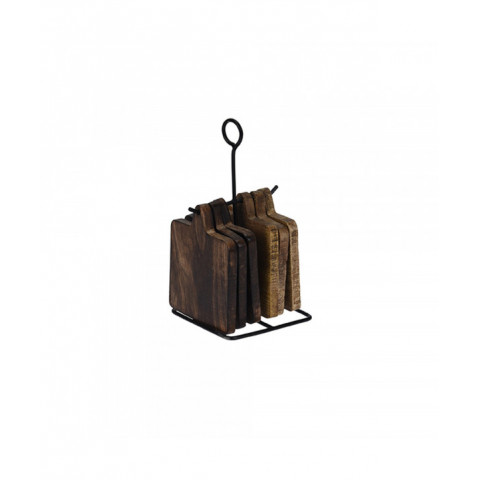 Coaster Set Of 6 Pieces Wood
