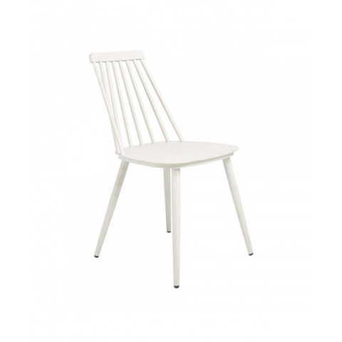 Dinning Chair Alu Retro White