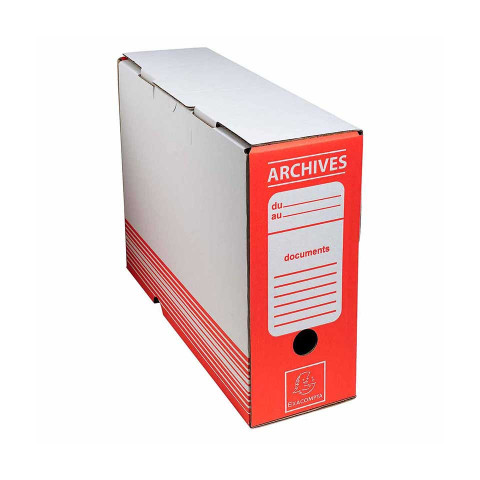Archive Box Red 25x34 cm