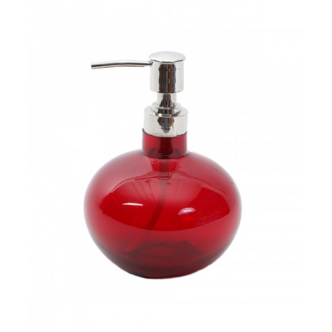 Soap Dispenser Clear Red