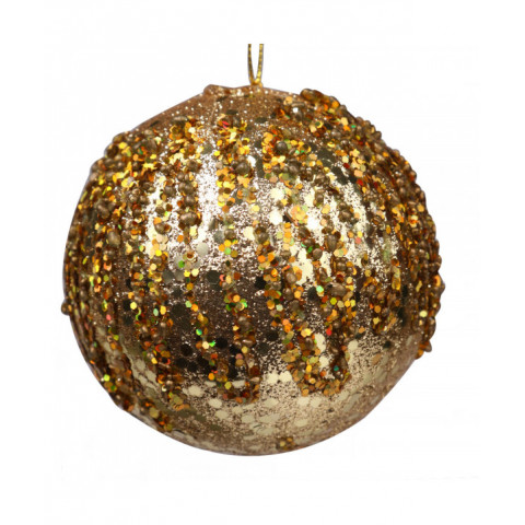 Ball Beaded Glitter Gold...