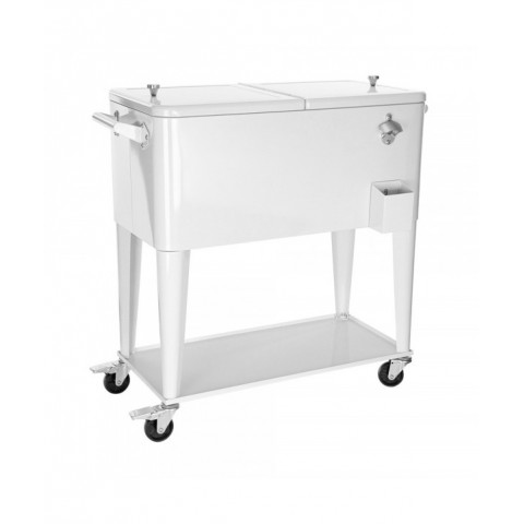 Cooler With Tray Rack White