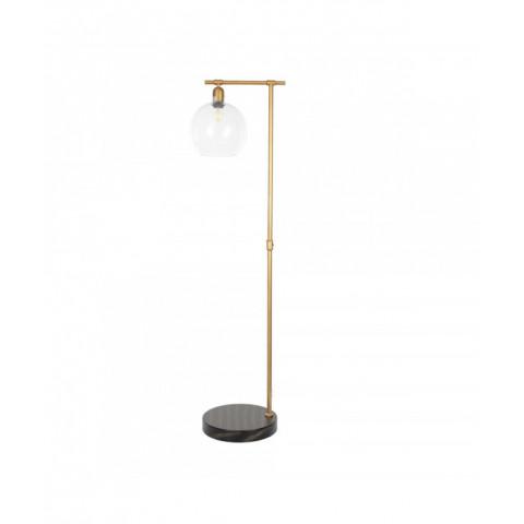 Floor Lamp Glass Ball Metal...